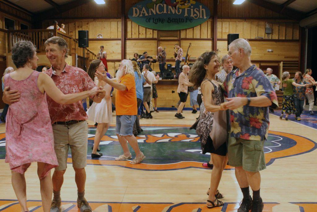 Contra dancing at Dancing Fish, Melrose, FL