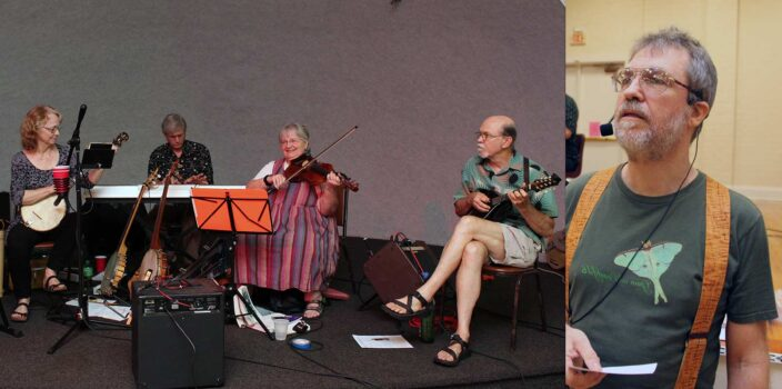 Tom Greene of Tallahassee will be calling contra dances to live music of The Gadabouts.