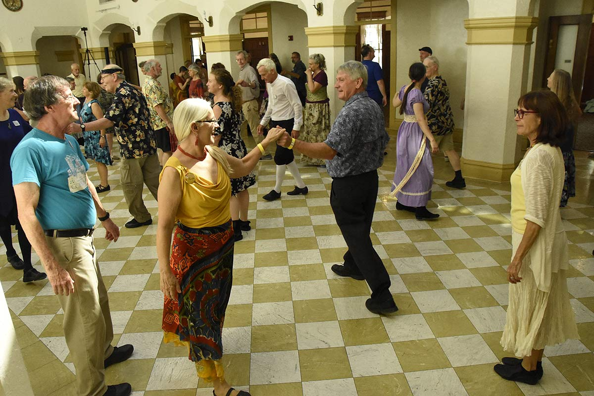 English Country Dancing at the Historic Thomas Center during DWTG 2020