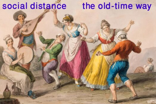 Social distance -- the old-time way
